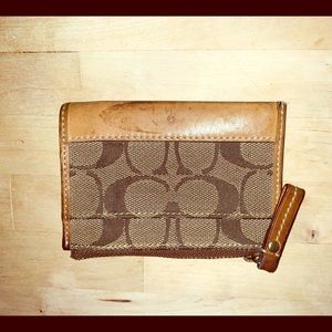 Coach Signature mini card holder